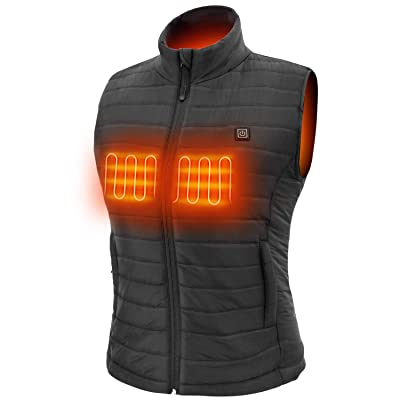 Sunbond 3M Womens Heating Electric Vest Heated Vest Cold-Proof Heating Clothes Washable Four Sizes Adjustment Black at Women's Coats Shop