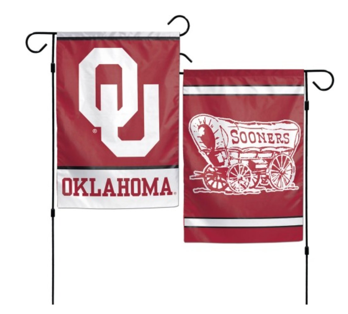 WinCraft NCAA University of Oklahoma Sooners 12 x 18 inch 2-Sided Garden Flag