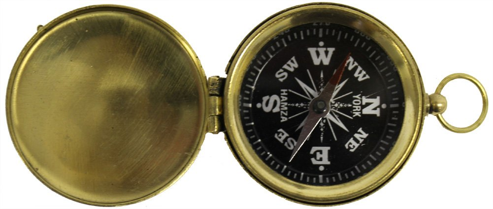 1 3/4 Hiking Compass with Cover and Black Face by ITDC NauticalMart Inc BR4885