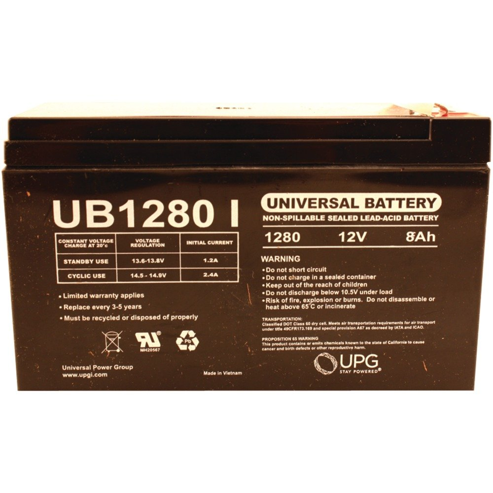 UPG 85989/D5779 Sealed Lead Acid Batteries (12V; 8Ah; .250 Tab Terminals; UB1280F2) Computers, Electronics, Office Supplies, Computing by Upg(tm)