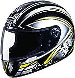 Studds Chrome Super D1 Full Face Helmet (Black N4, XL)