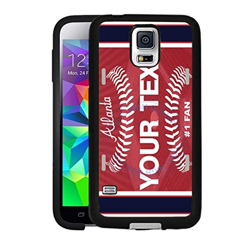 detailed look 936f6 cf74b BRGiftShop Personalize Your Own Baseball Team Atlanta Rubber Phone Case For  Samsung Galaxy S5