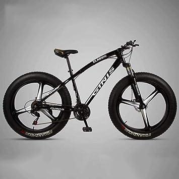 WJSW Bicicleta de montaña de absorción - Bicicletas de montaña de Doble suspensión Deportes Ocio para Hombre MTB (Color: Negro, Tamaño: 24 velocidades): Amazon.es: Deportes y aire libre