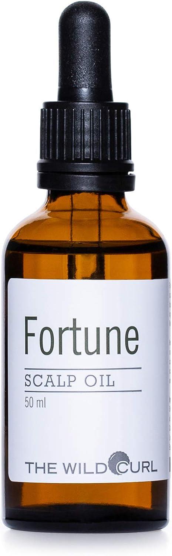 Fortune Scalp Oil - Equilibra el Cuero Cabelludo Seco y Sensible, Evita la Psoriasis   50ml   Sin Sulfato, Vegano y 100% Natural   Aceite de Salvia y Jojoba   The Wild Curl