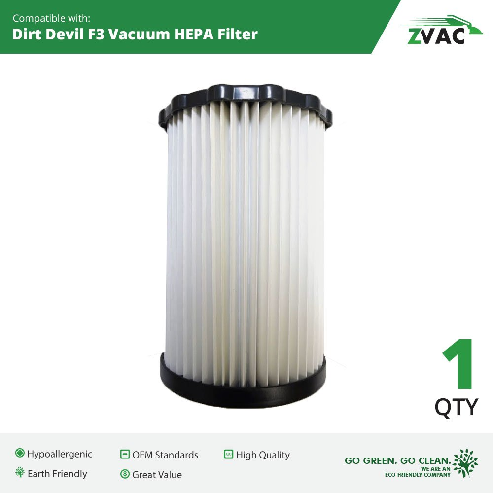 Amazon.com - Dirt Devil F3 Washable HEPA Filter - Similar to Dirt Devil F-3  Part # 3-250435-001 or 3250435001 - Made by Zvac - Household Vacuum Filters  ...