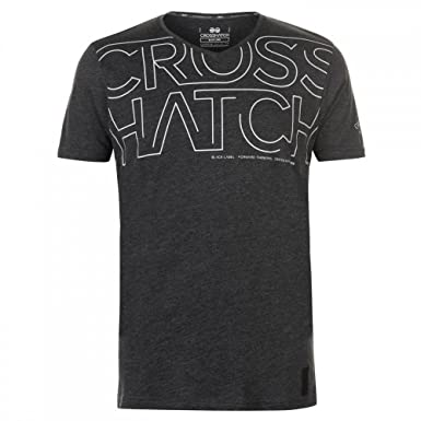 26dccd68bbfc Crosshatch Men's Designer V Neck Logo Printed Short Sleeved T Shirt:  Amazon.co.uk: Clothing