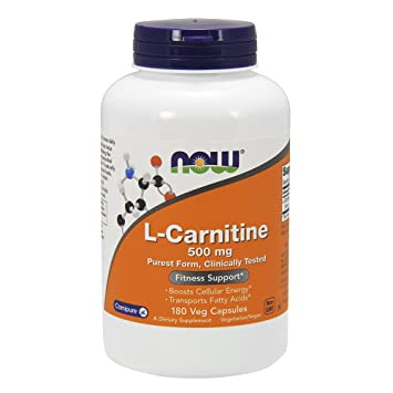 Now Foods L Carnitine 500 Mg 180 Capsules