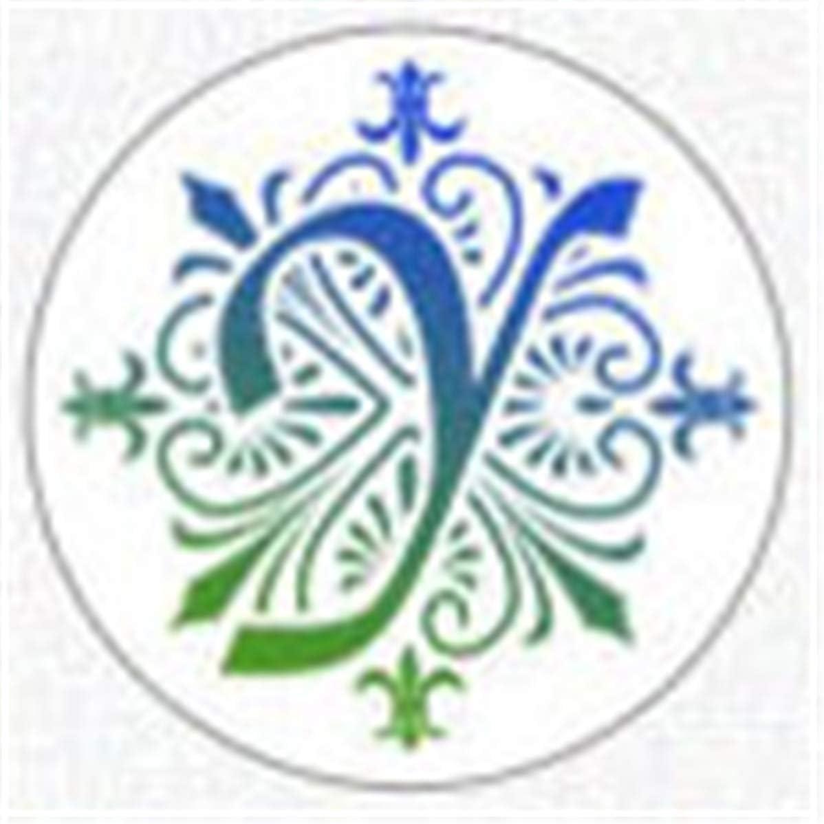Patterns Cachet de Sceau de Cire Kits de tampons en Bois r/étro S/érie t/ête-Lettre en cuivre Gjyia 500