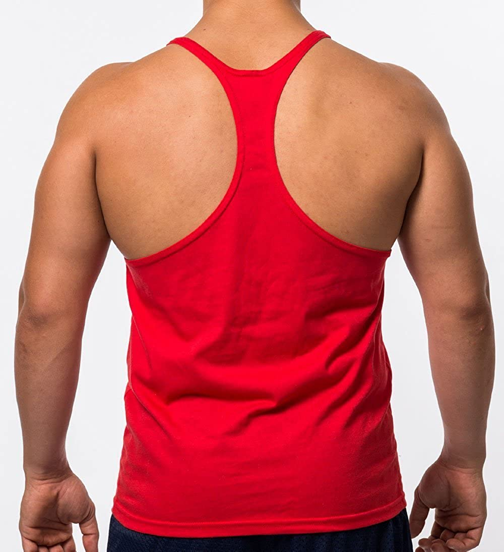 72def045d03a8 Q.Y.Fashion Men s Cotton Blank Stringer Y Back Workout Gym Tank Tops at  Amazon Men s Clothing store