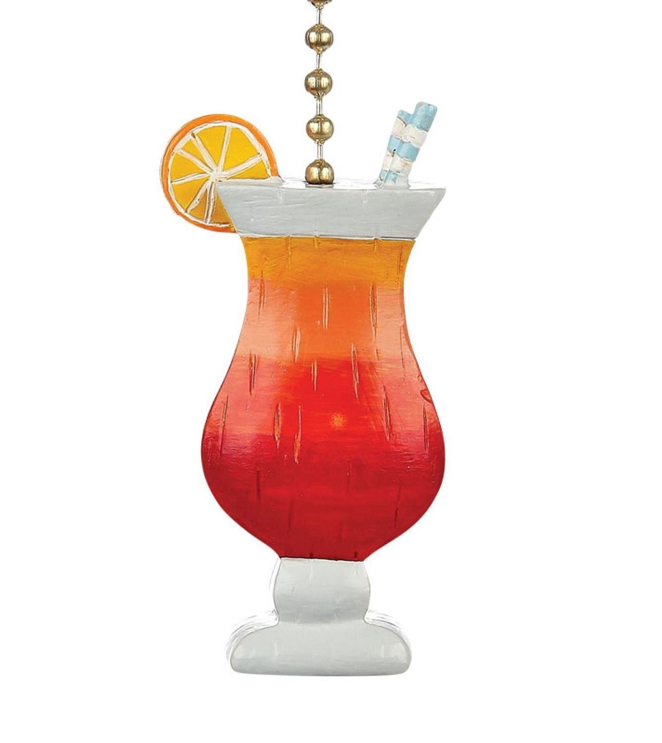 Tropical Beachy Fruity Cocktail Drink Ceiling Fan Pull Decoration