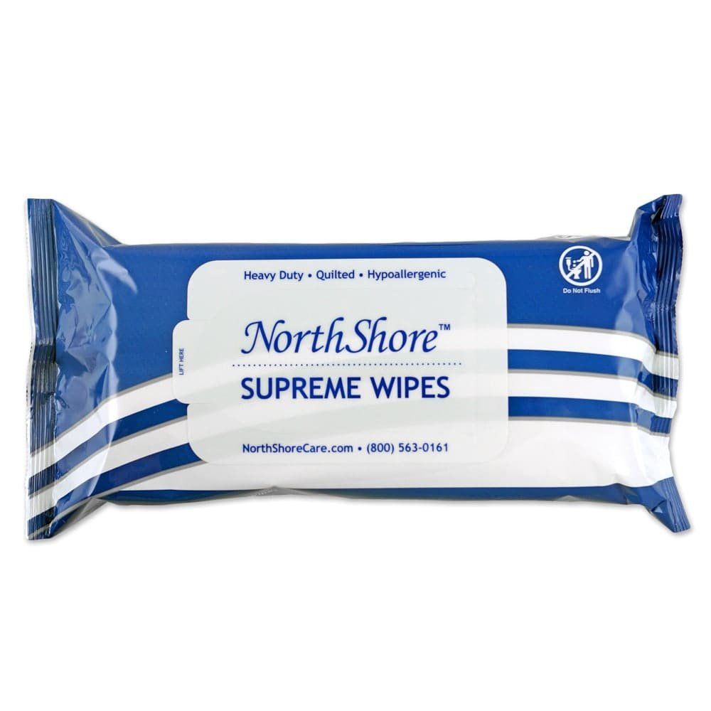 NorthShore Supreme Heavy-Duty Quilted Wipes, X-Large, Case/300 (6/50s) by NorthShore