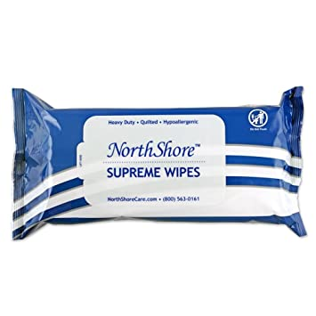 NorthShore Supreme Heavy-Duty Quilted Wipes, X-Large, 9 x 13 in