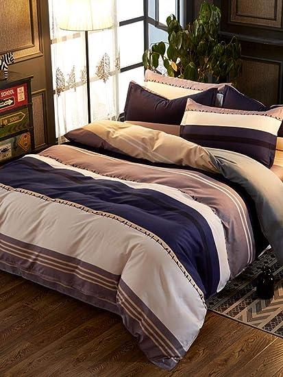 9aeac5c577 Amazon.com: MTOFAGF Shein Striped & Bird Print Sheet Set MTOFAGF ...