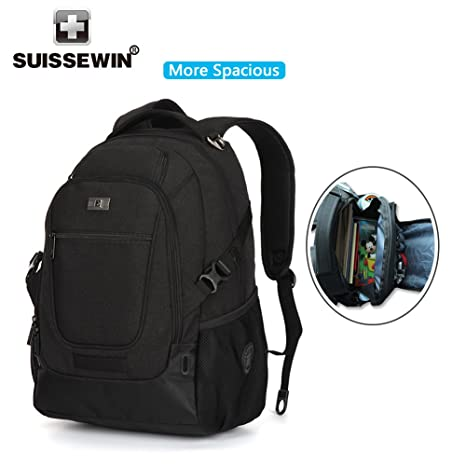 SUISSEWIN Laptop Backpack up to 17 inch Notebook Computer for Women Men  Water Resistant Super Light a174234f3c