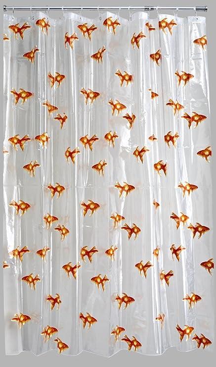 PVC Goldfish Shower Curtain