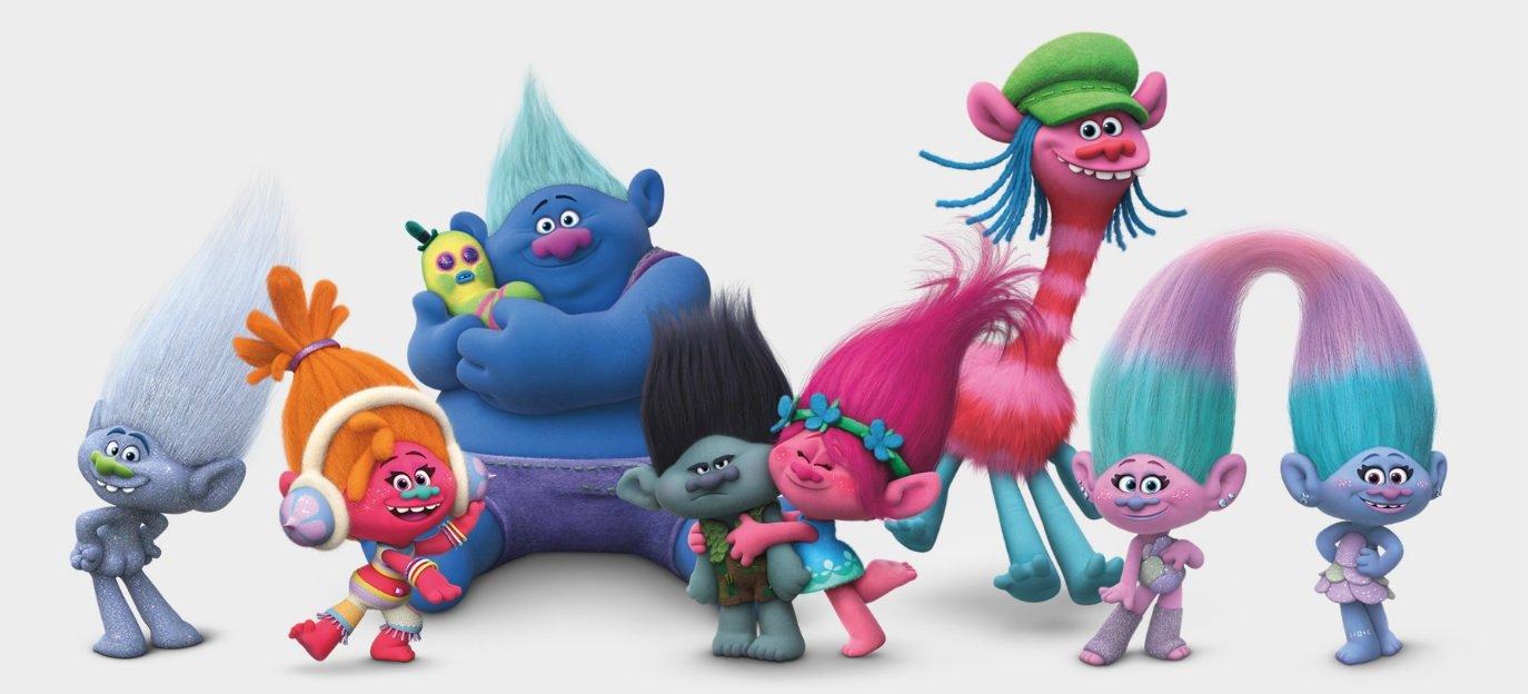 Trolls - Plush toy Branch 13/34cm, dark hair - Quality super soft by Trolls by Trolls