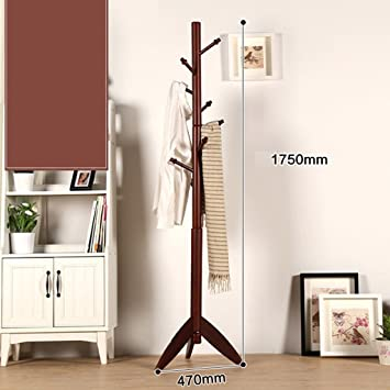 AIDELAI Coat Rack Solid Wood Cabinet Rack Bedroom Racks Simple Modern  Living Room Simple Clothes Rack
