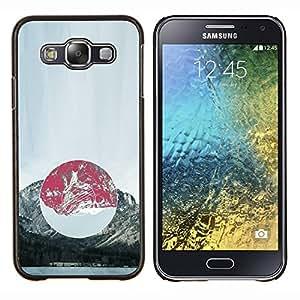 Composición de la montaña- Metal de aluminio y de plástico duro Caja del teléfono - Negro - Samsung Galaxy E5 / SM-E500