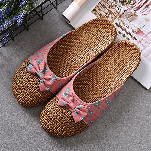Lovers Mujer Male Hogar Floor Bottom XING and Thick Grass GUANG Slippers Sandals Asian Red 35 Green Interior Home Summer 40 39 36 Slippers Antideslizante qaq8I