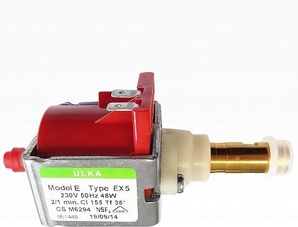 NUOVO Pompa Ulka ex5 15bar in ottone rubinetto scarico caffè automatica come SAECO 842500108
