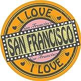 San Francisco Love Label Home Decal Vinyl Sticker 12'' X 12''