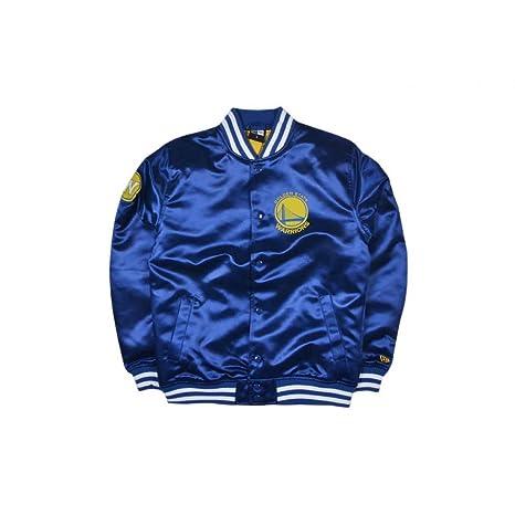 f8ba69502 New Era Tip Off Sateen Bomber Jacket - Golden State Warriors  Amazon ...