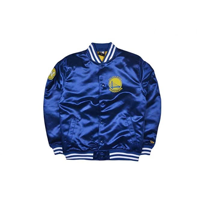 new style 7846b 981d8 New Era Golden State Warriors NBA Tip Off Sateen Bomber College Jacket  Jacke Amazon.