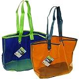 "Blue Avocado 14"" Nu Reusable Mesh Beach Tote Bag - (Randomly Selected Blue or Orange)"