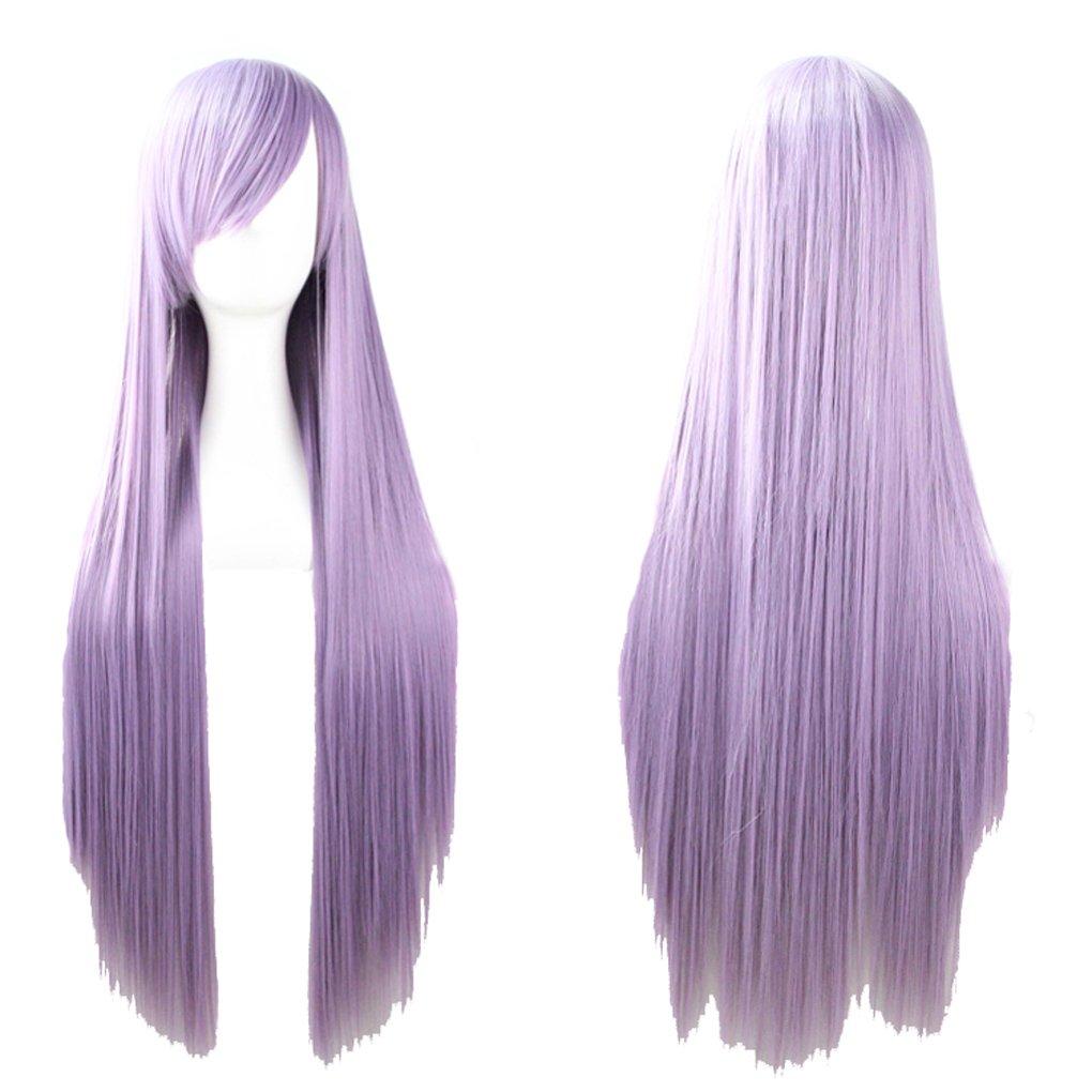 Zinsale 32 parrucche lunghe diritte di Cosplay parrucche sintetiche resistenti al calore naturali di Lolita (Il principe d'oro)
