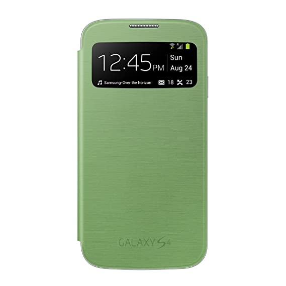 purchase cheap 257c1 3e387 Samsung Galaxy S4 S-View Flip Cover Folio Case (Green) (Discontinued by  Manufacturer)