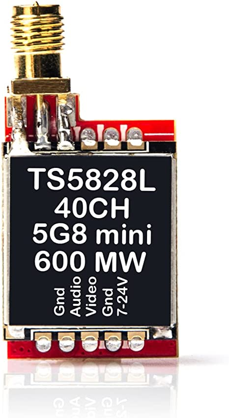AKK TS5828L 5.8G 600MW 40Ch FPV Mini AV Transmitter for FPV Multicopter