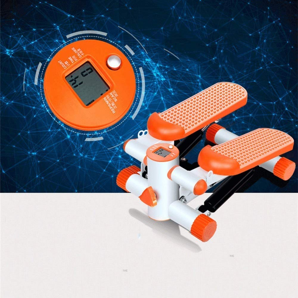 Steppers,Aerobic Fitness Exercise Machine,Mini Stepper Adjustable Air Stepper Twist Stepper with Hydraulic Resistance Fitness Exercise Machine (Color : Orange, Size : Casual Size) by Tabuji (Image #3)