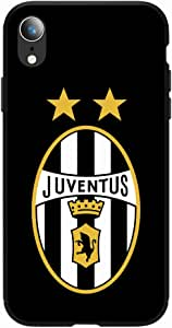 Okteq Case for iPhone XR Shock Absorbing PC TPU Full Body Drop Protection Cover matte printed - juventus black By Okteq
