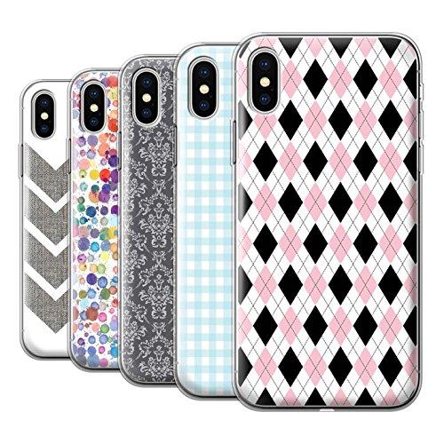 Stuff4 Gel TPU Hülle / Case für Apple iPhone X/10 / Pack 14pcs / Wintermode Kollektion
