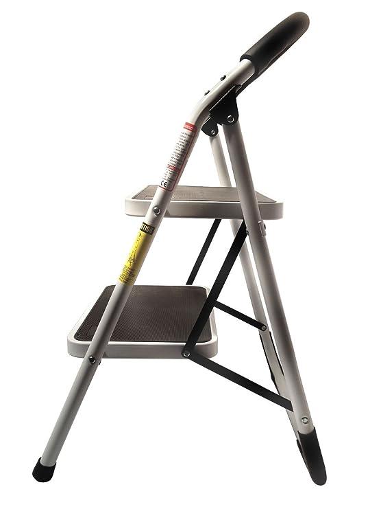 Prime Stepup Heavy Duty Steel Reinforced Folding 2 Step Ladder Stool 330 Lbs Capacity Ncnpc Chair Design For Home Ncnpcorg