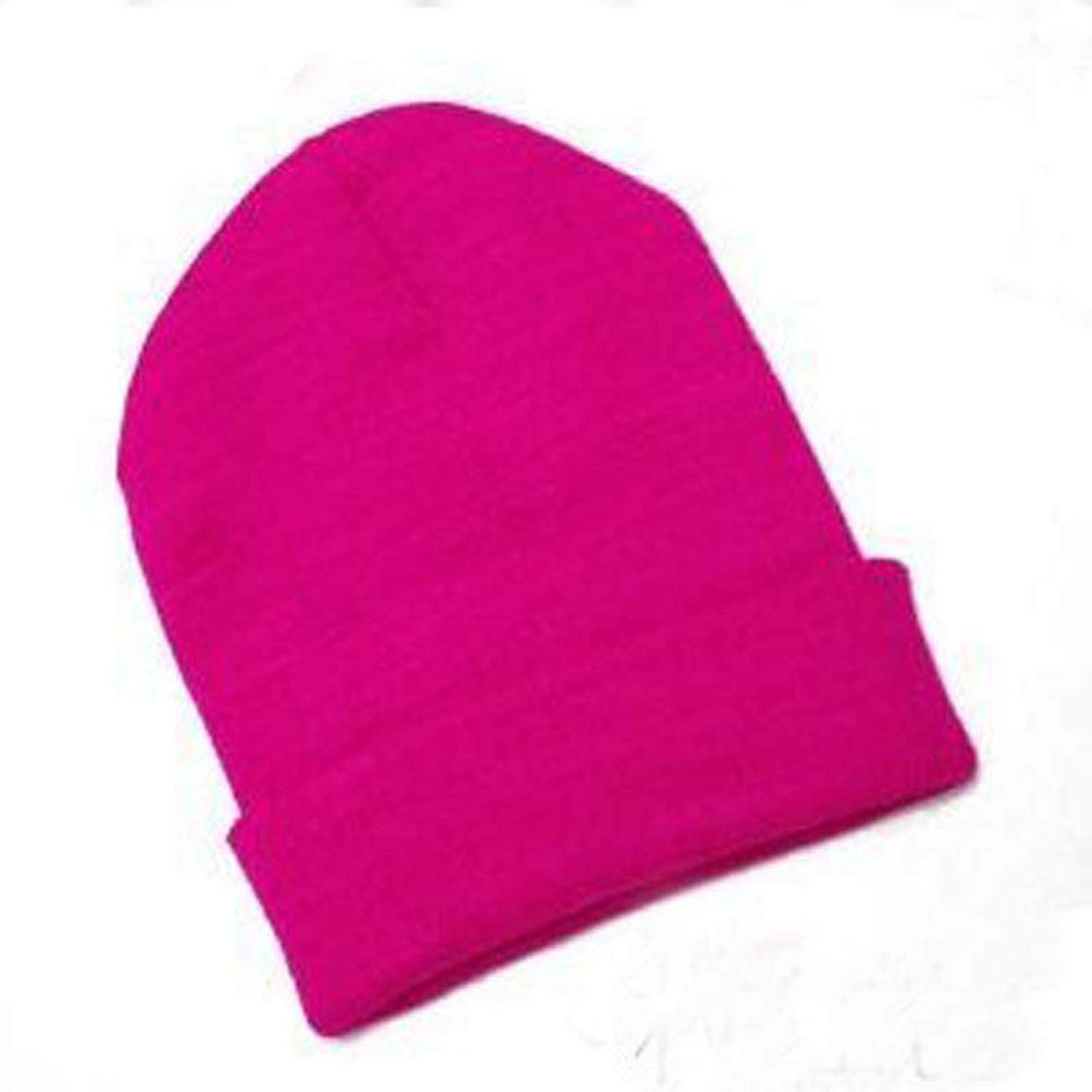 Knitted Neon Women Beanie Girls Cap Womens Warm Hats Unisex