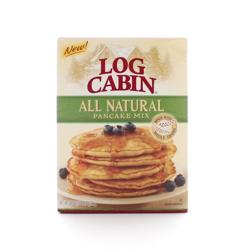 Log Cabin All Natural Pancake Mix, Made with Whole Grains (Pack of 2)