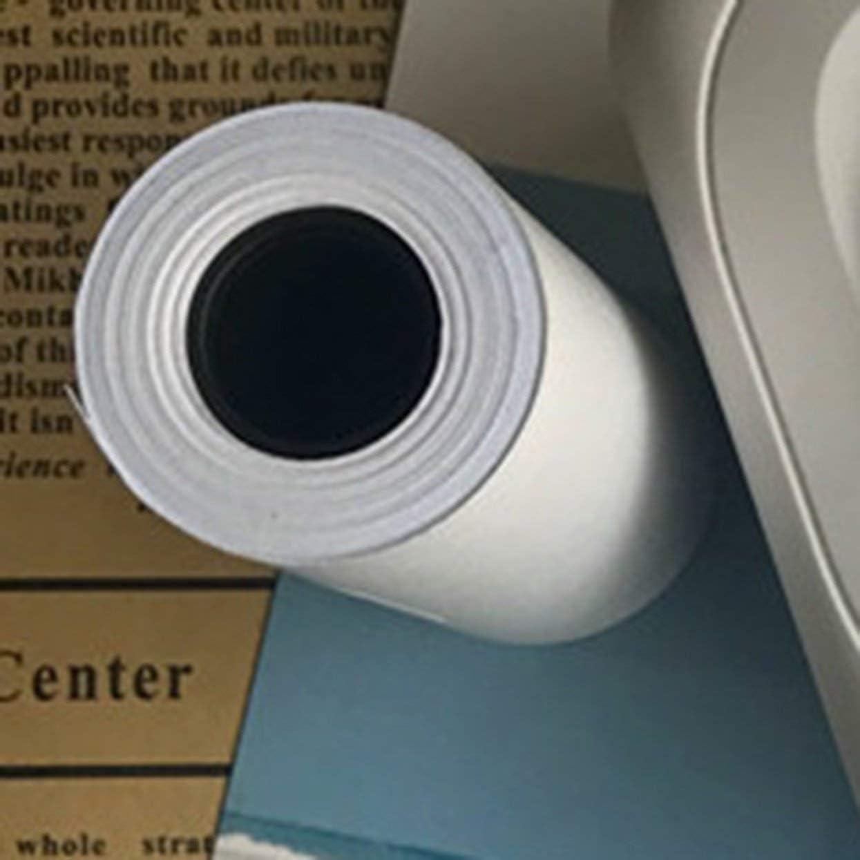 3 rouleaux de papier autocollant imprimable durable auto-adh/ésif pour accessoires pour imprimante photo PAPERANG Mini blanc papier thermique direct