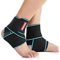 Ankle Support,Adjustable Ankle Brace Breathable Nylon Material Super Elastic and Comfortable,1 Size Fits all, Suitable…