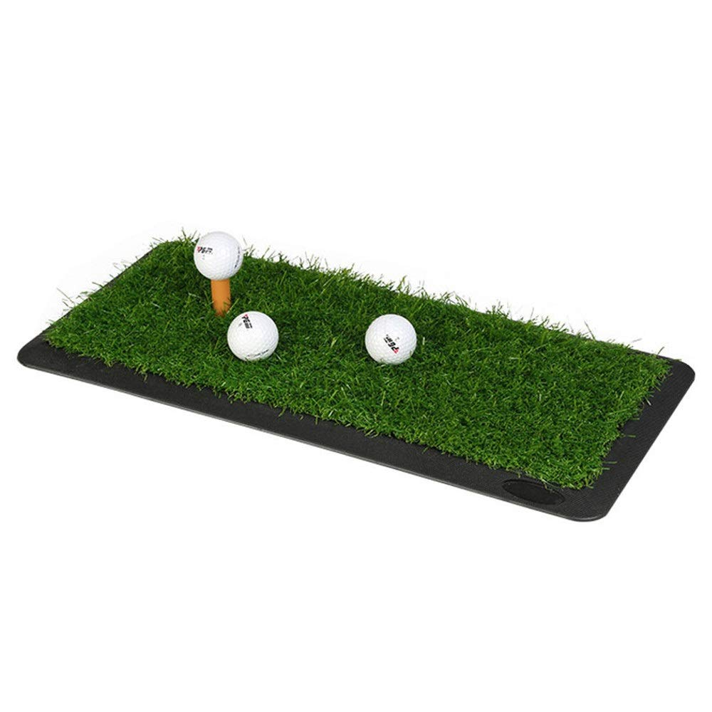 ゴルフ練習用マット 取り外し可能なゴム製屋内振動の練習のマットが付いているゴルフマットの練習の打撃の草のマット (色 : 緑, サイズ : 65*30CM) 65*30CM 緑 B07T3YJXTW