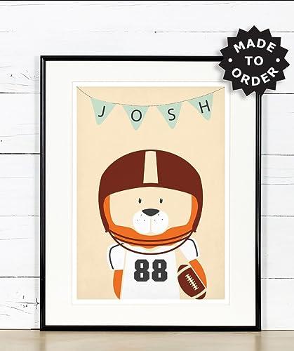 Amerikanischer Fussball Lowe Kinderzimmer Bild Poster