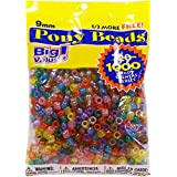 Darice Value Pack Pony Bead, 9mm, Transparent Multicolor, 1000-Pack