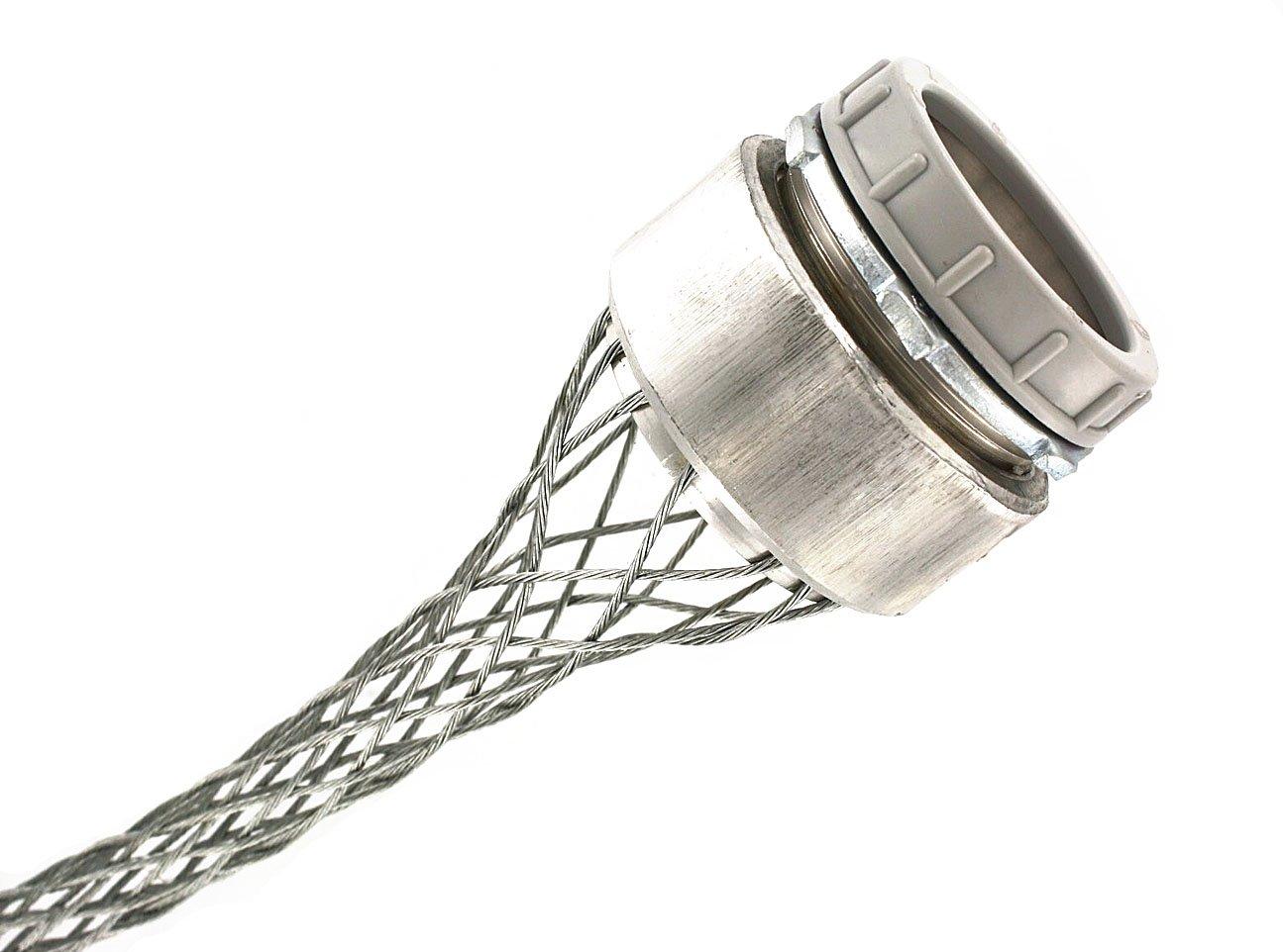 Leviton L7508 2-Inch, Straight, Male, Steel Body, Wide-Range Strain-Relief, 1.400, 1.750 Cord Range
