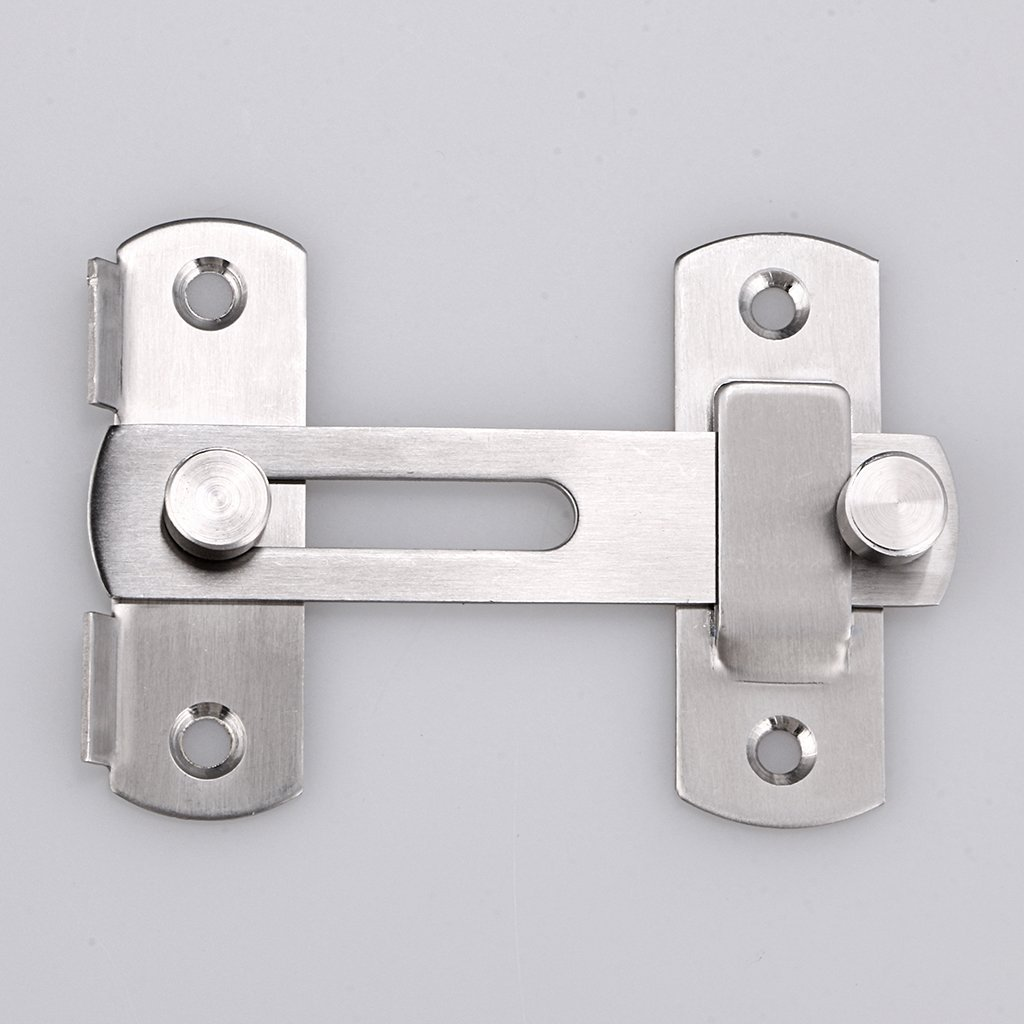 Window 1 Pcs Sumnacon Stainless Steel Safety Door Latches Solid Gate Latches//Lock for Pet Gate,Cabinet Furniture Brushed Finish
