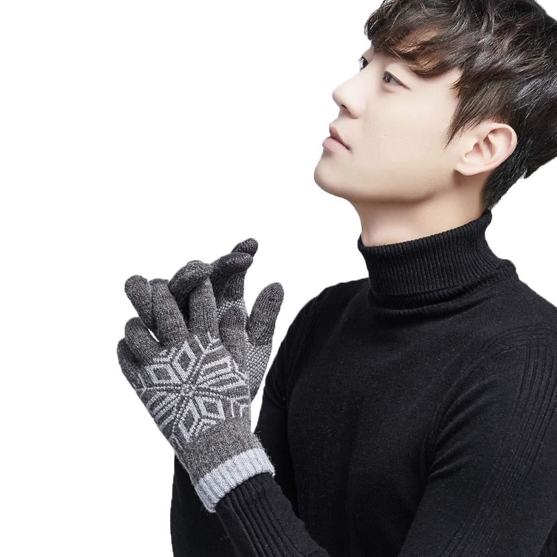 King Star Warm Winter Gloves Knit Fleeced Windproof Gloves Cycling Gloves for Men Women
