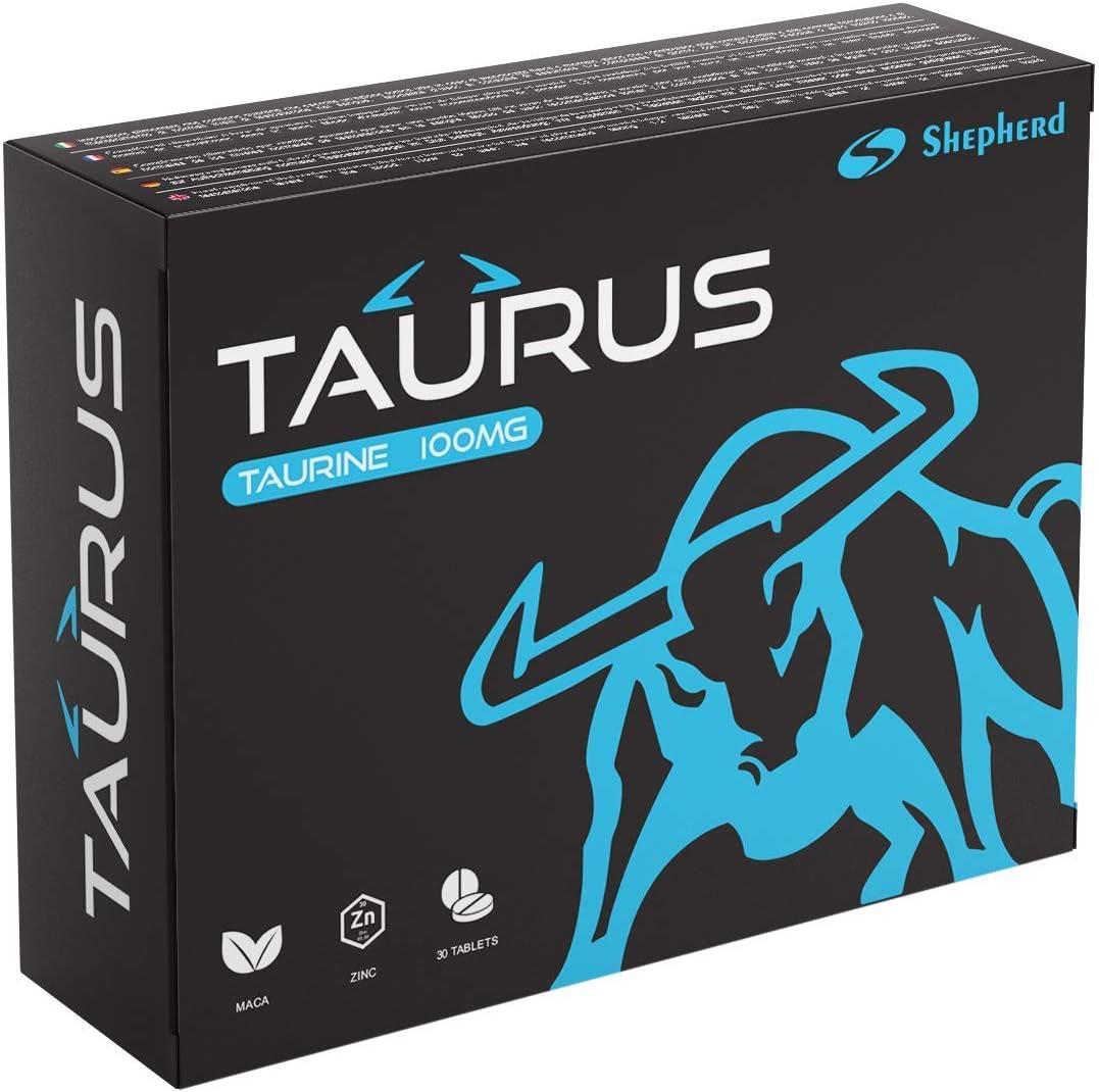 Taurus 100mg 30 Comprimidos | Efecto Inmediato, Duración Máxima, Sin Contraindicaciones, 100% Natural
