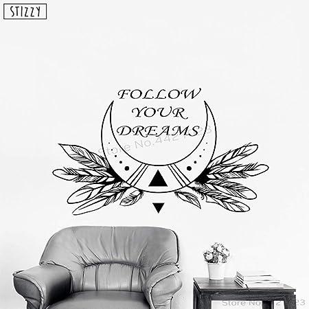 yaoxingfu Tatuajes de Pared, Frases rústicas, Sigue tu sueño ...