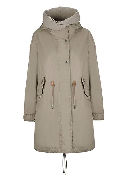 brand new 4c240 de06d Woolrich Damen WWCPS2716UT04407074 Grau Baumwolle Jacke ...