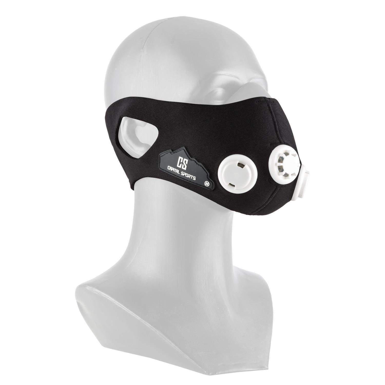 Capital Sports - Máscara de entrenamiento de simulación de altitud para mejorar la resistencia con 7