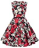 Girls Vintage Floral High Waist Wiggle Dresses for Church Party 11-12 Years K885-1